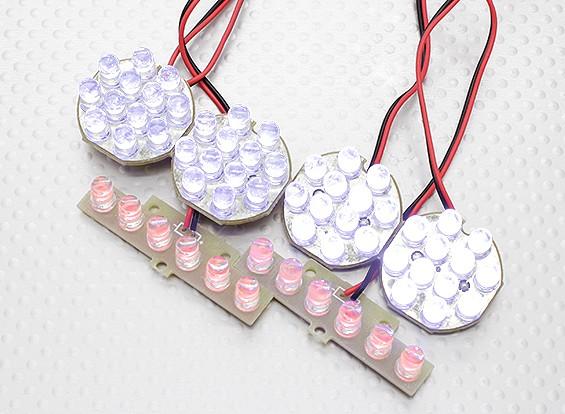 HobbyKing 1/5 y 1/8 Off-Road LED sistema de la luz con las luces de freno funcionales