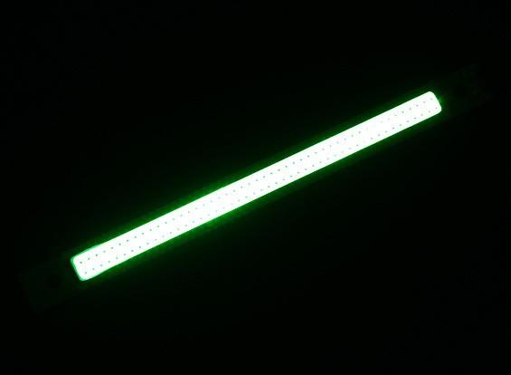 3W LED verde de la aleación de Gaza de 120 mm x 12 mm (3s Compatible)
