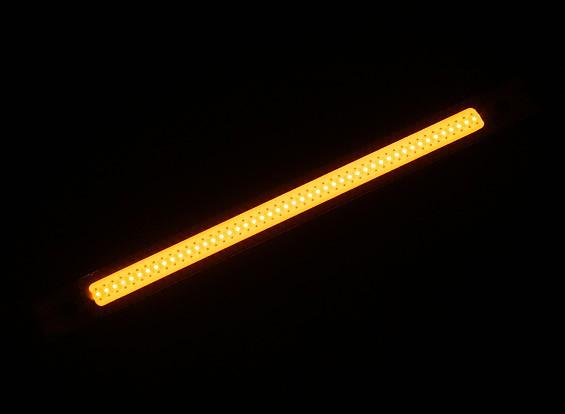 3W LED amarillo de la aleación de la luz de tira de 120 mm x 10 mm (2S-3S Compatible)