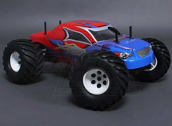 1/10 MG10 MT3 4WD 0,18 Nitro Monster Truck - Red (ARR)