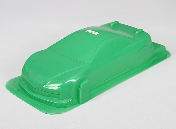 1/10 CR-6R carrocería w / Adhesivos (verde)