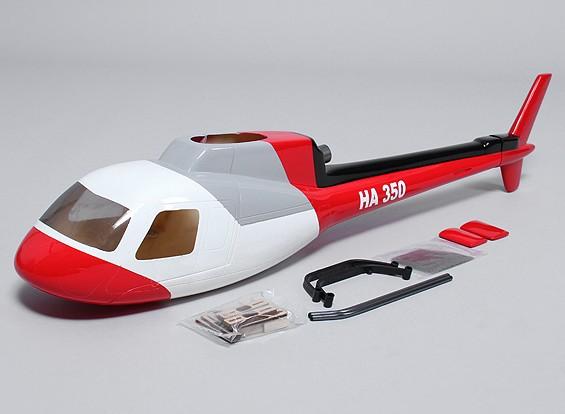 AS350 de fibra de vidrio de fuselaje para el tamaño 450 heli