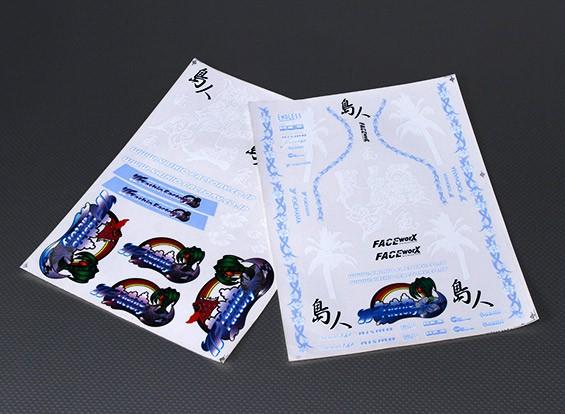 Auto-adhesivo de la etiqueta Hoja - Yashio 1/10 Escala