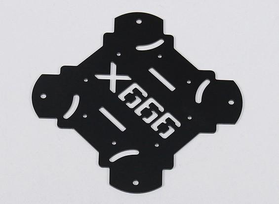 HobbyKing X666 fibra de vidrio principal capítulo de la placa inferior (1pc / bolsa)