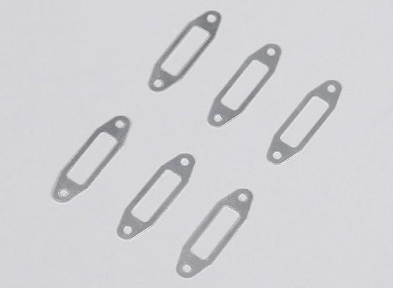 Silenciador de aluminio de 1 mm de juntas para el sistema operativo 0.61 ~ 0.91 Motor del resplandor (6pcs / bag)