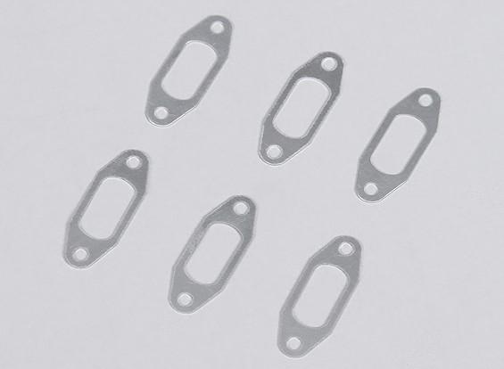 1 mm de aluminio silenciador Junta para YS .91 Motor del resplandor (6pcs / bag)