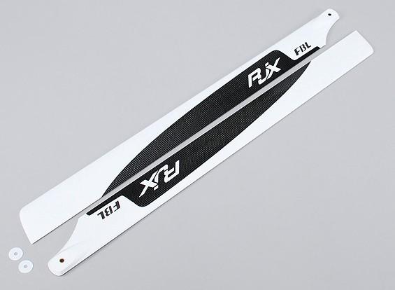 Flybarless 690mm de alta calidad de fibra de carbono principal Cuchillas