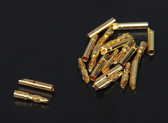 Conectores de oro de 2 mm de 10 pares (20pc)