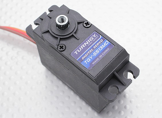 Turnigy ™ TGY-5513MD DS / MG Servo 12 kg / 0.18sec / 54,5 g