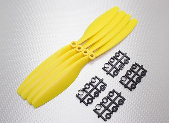 HobbyKing ™ Propulsor 10x4.5 amarillo (CW) (4pcs)