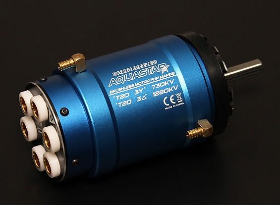 Turnigy AquaStar T20 3T 730KV / 1280KV sin escobillas del motor refrigerado por agua