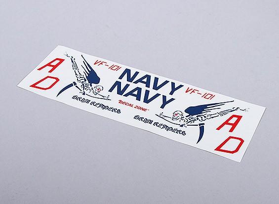 Marina de los EE.UU. La Muerte de EDF Jet (azul) - 105mmx70mm insignias principal