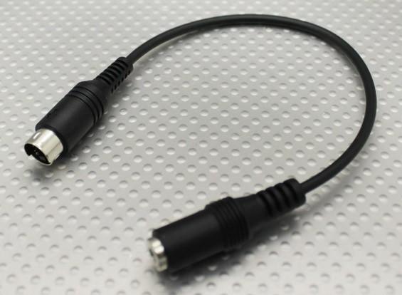 Esky / Storm / WFLY Transmisor Adaptador de enchufe de 3,5 mm a Mini DIN 4 para el simulador de vuelo