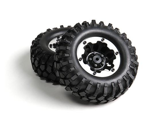 1/10 orugas 96mm Ruedas Y Neumáticos 12mm hexagonal (2 piezas)