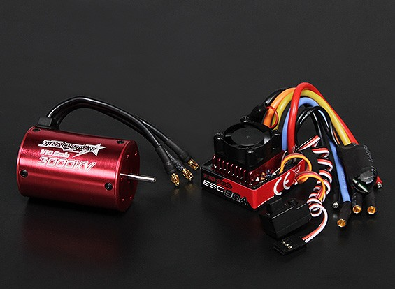 Turnigy TrackStar impermeable 1/10 sin escobillas de alimentación del sistema 3000KV / 80A