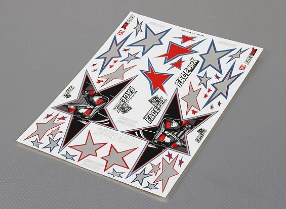 Auto-adhesivo de la etiqueta Hoja - Mal Negro Estrella 1/10 Escala