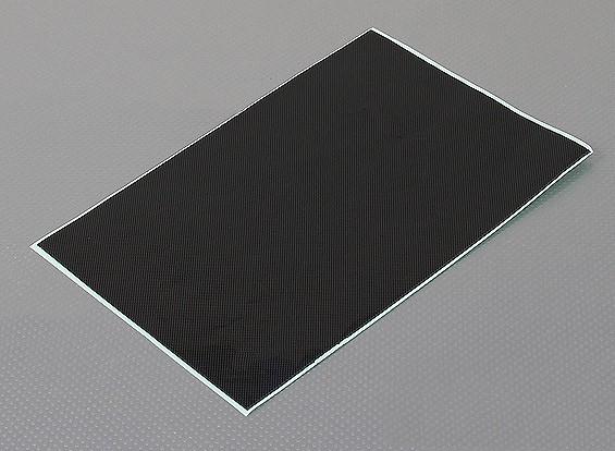 Hoja de auto-adhesivo de la etiqueta - de fibra de carbono Look