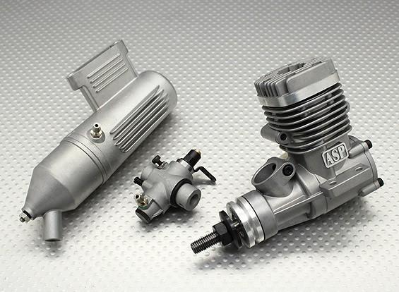 ASP S25AII de dos tiempos Motor del resplandor w aguja / remoto