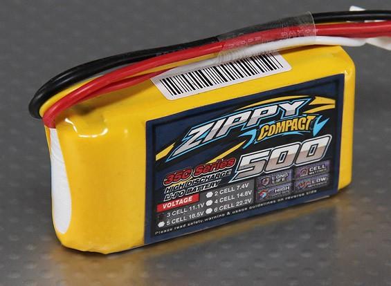 ZIPPY compacto 500mAh Lipo 3S 35C Paquete