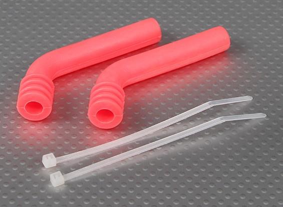 78x8mm de silicona de escape deflector (rosa) (2pcs / bag)