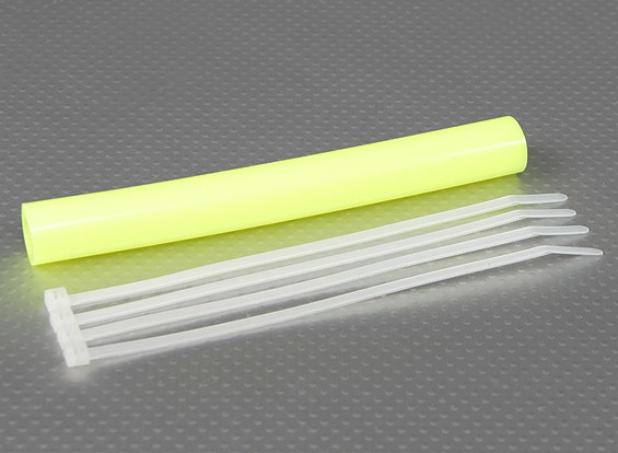 De silicona de escape acoplador de tubería 152x12mm (amarillo)