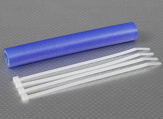 Heavy Duty de silicona de escape acoplador de tubería 152x13.5mm (azul)