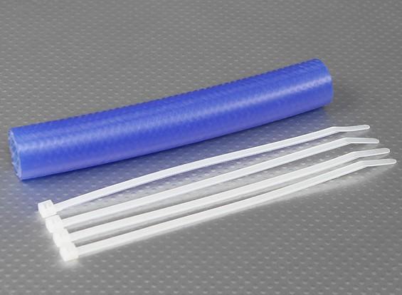 Heavy Duty de silicona de escape acoplador de tubería 152x15mm (azul)