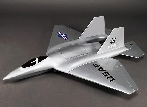 Bomberos de Phoenix de 90 mm de fibra de vidrio EDF Jet 1100 mm (ARF)