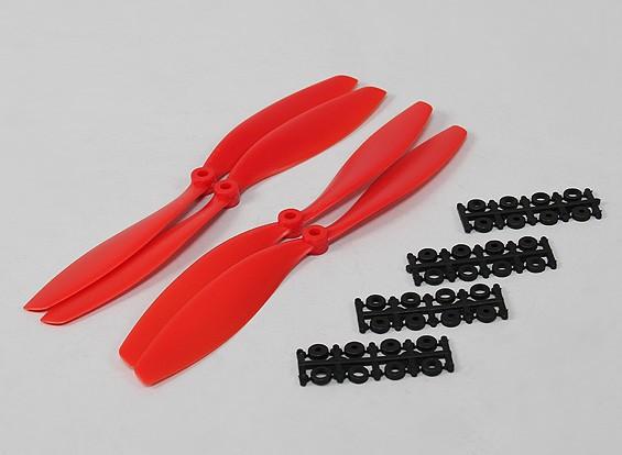 10x4.5 SF Puntales de 2 piezas estándar Rotación / 2 pc RH rotación (rojo)