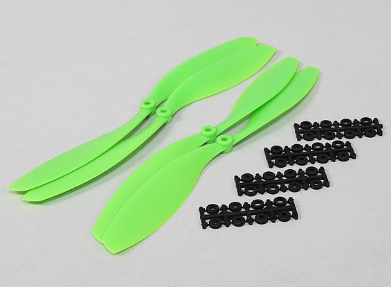 12x4.5 SF Puntales de 2 piezas estándar Rotación / 2 pc RH rotación (verde)