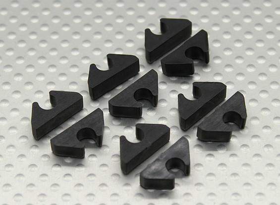 Línea de Aire de Línea / combustible / Cable Clip ordenado respecto a la DO de 5 mm (10pc)