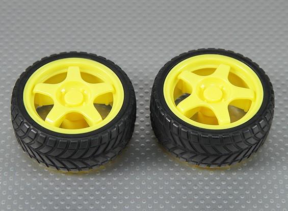 28mm rueda / neumático Conjunto (2pcs / bag)