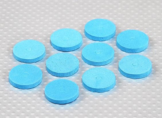 La espuma de EVA del cuerpo arandelas (azul) (10 piezas)