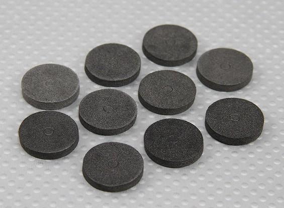La espuma de EVA del cuerpo arandelas (Negro) (10 piezas)