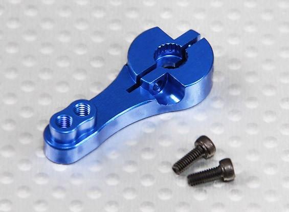 Heavy Duty 23T aluminio brazo de Servo - JR y KO (azul)