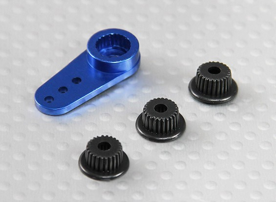 De aluminio de una manera universal brazo de Servo - JR, Futaba y HITEC (azul)