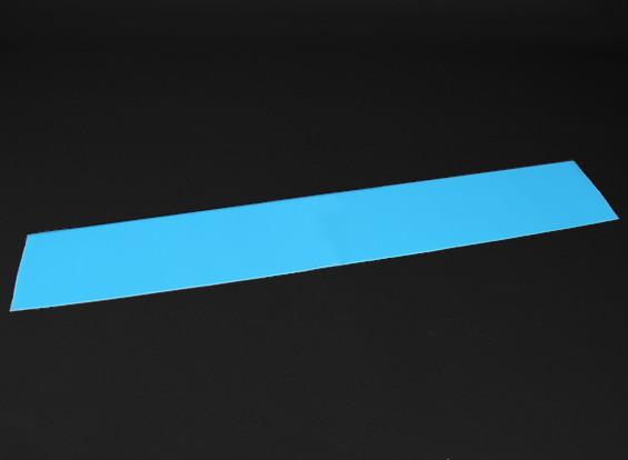 Luminiscente (brillan en la oscuridad) auto-adhesivo de la película (azul) - 1200 mm x 200 mm