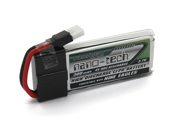 Turnigy nano-tech 300mah 1S 45 ~ 90C Lipo Pack (adapta Nueve Eagles Solo Pro-100)