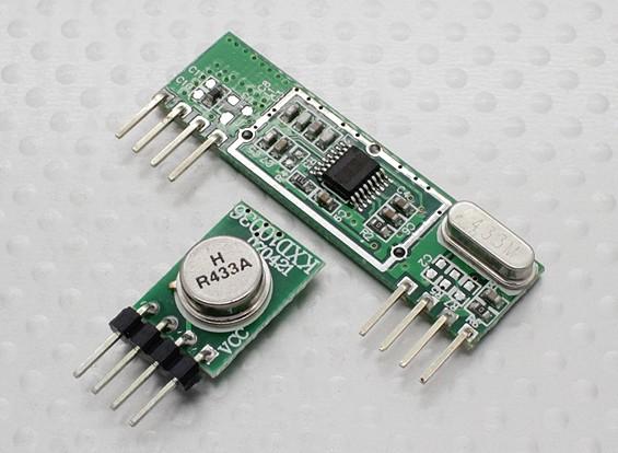 433MHz transmisor y el receptor superheterodino 3400 de RF