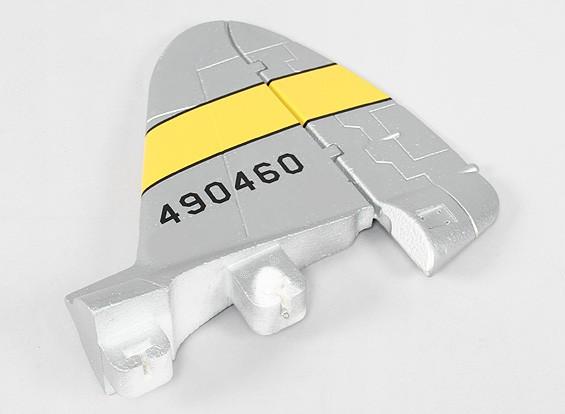 P-47 1600mm (PNF) - Sustitución de la cola vertical