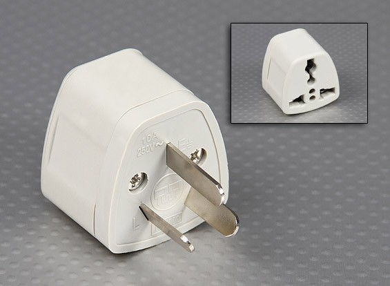 Normas australianas AS 3112 Multi-Standard adaptador de sockets