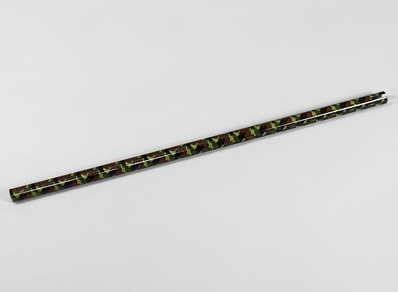 Camuflaje de fibra de carbono Tail Boom para Trex / HK600 helicóptero
