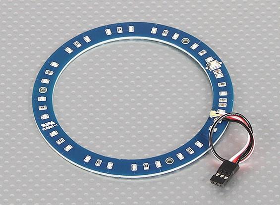 Anillo LED 100mm azul w / 10 modos seleccionables