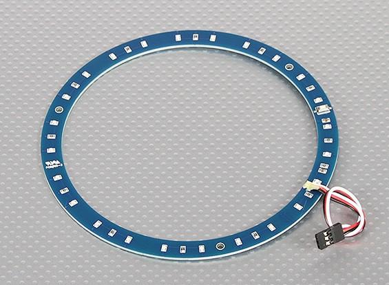 Anillo LED 145mm azul w / 10 modos seleccionables