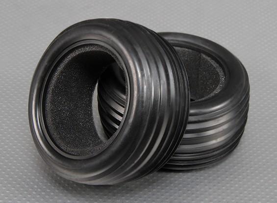 Los neumáticos delanteros w / Esponjas 1/10 Turnigy estadio Rey 2WD Truggy