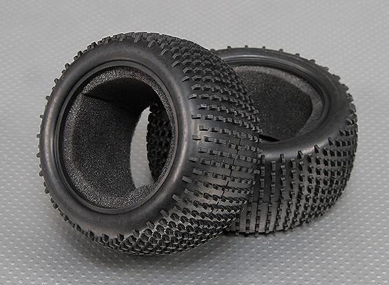 Los neumáticos traseros w / Esponjas 1/10 Turnigy estadio Rey 2WD Truggy