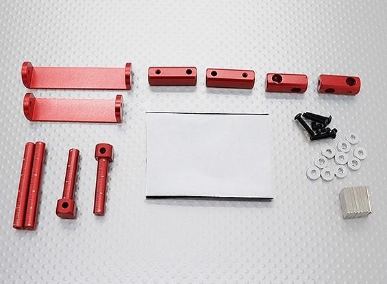 1/8 del cuerpo de coche magnético Conjunto de montaje (rojo)