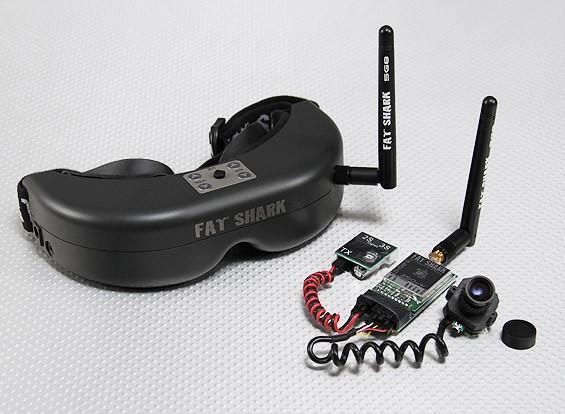 Sistema de auriculares FatShark PredatorV2 RTF FPV w / Cámara y 5.8G TX
