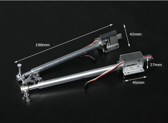 Turnigy Full Metal Servoless retracción con 190 mm Oleo Piernas - 90 grados Girar (par)