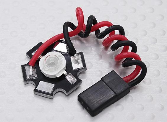 Lámpara LED rojo brillante estupenda 3Watt con disipador de calor de aluminio